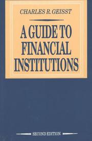 Cover of: A Guide to the Financial Institutions