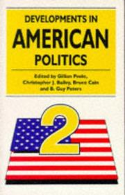 Cover of: DEVELOPMENTS IN AMERICAN POLITICS