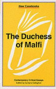 Cover of: The Duchess of Malfi