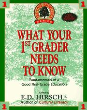 Cover of: What Your First-Grader Needs to Know (The Core Knowledge)