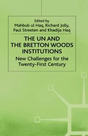 Cover of: The UN and the Bretton Woods institutions |