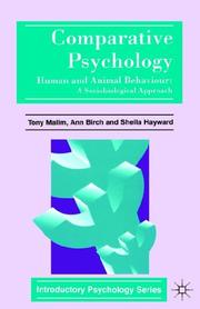 Cover of: Comparative psychology