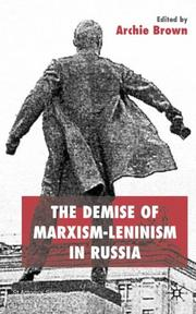 Cover of: The Demise of Marxism-Leninism in Russia (St. Antony's Series)