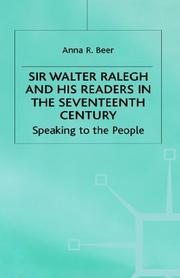 Cover of: Sir Walter Ralegh and his readers in the seventeenth century | Anna R. Beer