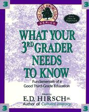 Cover of: What Your Third Grader Needs to Know