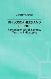 Cover of: Philosophers and friends | Dorothy Mary Emmet