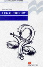 Cover of: Legal Theory (Palgrave Law Masters)