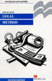 Cover of: Legal Method (Palgrave Law Masters)