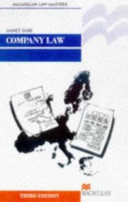 Cover of: Company Law (Palgrave Law Masters)
