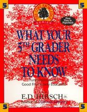Cover of: What Your Fifth Grader Needs to Know | E.D. Jr Hirsch