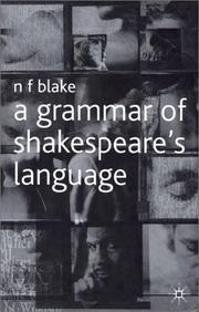 Cover of: A grammar of Shakespeare's language