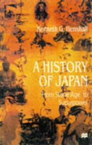Cover of: History of Japan | Kenneth G. Henshall