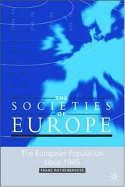 Cover of: The European Population Since  1945 (The Societies of Europe)