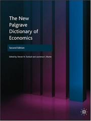 Cover of: The New Palgrave Dictionary of Economics |