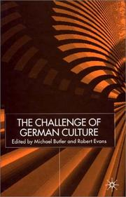 Cover of: The challenge of German culture |