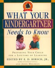 Cover of: What Your Kindergartner Needs to Know