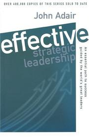 Cover of: Effective Strategic Leadership