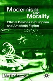 Cover of: Modernism and Morality