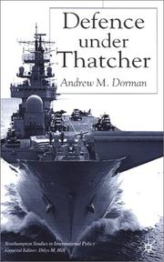 Cover of: Defence Under Thatcher | Andrew M. Dorman