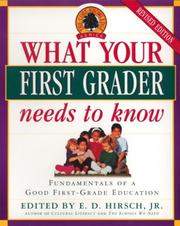 Cover of: What Your First Grader Needs to Know
