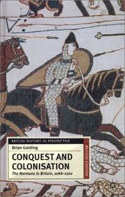 Conquest and colonisation by Brian Golding