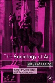 Cover of: sociology of art |