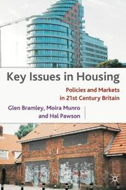 Cover of: Key issues in housing