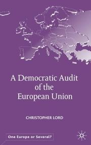 Cover of: A Democratic Audit of the European Union (One Europe or Several?)