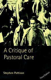 A critique of pastoral care by Stephen Pattison
