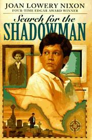 Cover of: Search for the shadowman