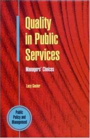 Cover of: Quality in public services
