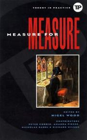 Cover of: Measure for measure |