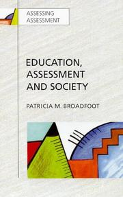 Cover of: Education, assessment, and society