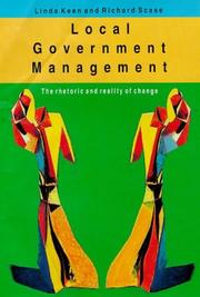 Cover of: Local government management