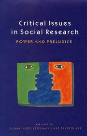 Cover of: Critical Issues in Social Research | Hood