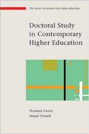 Cover of: Doctoral Study in Contemporary Higher Education (Society for Research into Higher Education) | Howard Green