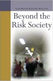 Cover of: Beyond the Risk Society | Gabe Mythen