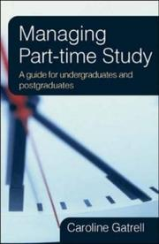 Managing Part-time Study by Caroline Gatrell