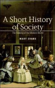 Cover of: A Short History of Society | Mary Evans