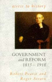 Cover of: Government and reform, 1815-1918