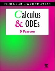 Cover of: Calculus & Ordinary Differential Equations | David Pearson