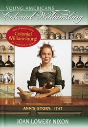 Cover of: Ann's story, 1747: YOUNG AMERICANS Colonial Williamsburg (Colonial Williamsburg(R))