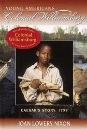 Cover of: Caesar's story, 1759: YOUNG AMERICANS Colonial Williamsburg (Colonial Williamsburg(R))