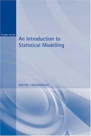 Cover of: An introduction to statistical modelling