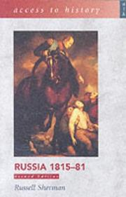 Cover of: Russia 1815-81