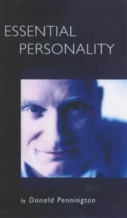 Cover of: Essential personality | Donald C. Pennington