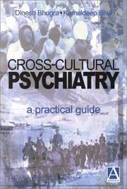 Cover of: Cross-cultural psychiatry | Dinesh Bhugra