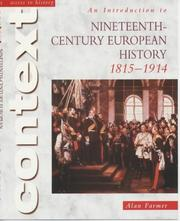 Cover of: Introduction to Nineteenth Century European History 1815-1914 | Alan Farmer