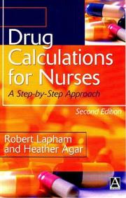Cover of: Drug Calculations for Nurses | Robert Lapham