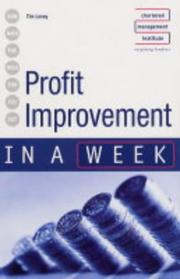 Cover of: Profit Improvement in a Week (In a Week)